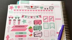May 2016, Pastel, Organizing Stickers, Fits Erin Condren and others, Kiss Cut, Life Planner Stickers, Scrapbook, Planner, Speech Bubble by LillyTop on Etsy
