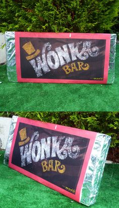 Willy Wonka handmade chocolate bar lollipop sweets jars party decorations | eBay