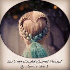 Heart Braided Ponytail Tutorial by Abella's Braids @abellasbraids by estelle