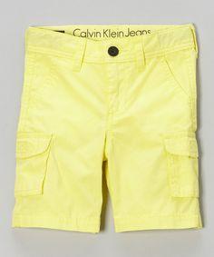 Look what I found on #zulily! Vitamin C Cargo Shorts - Infant & Toddler by Calvin Klein Jeans #zulilyfinds