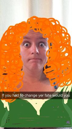 Merida from Brave | Hilarious Proof That Snapchat Can Turn Anyone Into A Disney Princess