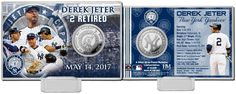 Derek Jeter (New York Yankees) #2 Jersey Retirement Silver Coin Card