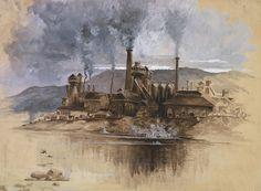 Bethlehem Steel Corporation Painting - Bethlehem Steel Corporation Circa 1881 by Aged Pixel