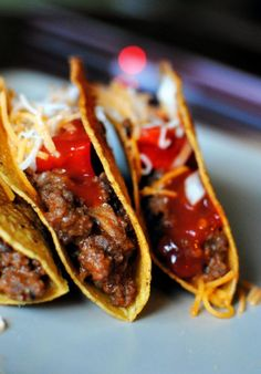 "venison. tacos. Trying to find recipes that would take the ""wild game"" taste out...cant wait to give these a try. The tacos are actually made out of leftover venison burgers which is the first recipe i plan to try. Yum!"