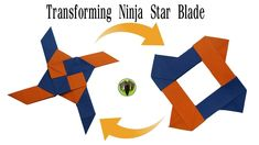 Transforming Ninja Star Blade Shuriken - Origami, DIY, How to make, Tutorial, Paper Folds - 794 Origami Quilt, Diy Origami, Origami Tutorial, Origami Paper, Origami Airplane, Origami Elephant, Shuriken, Paper Craft Supplies, Paper Crafts