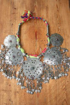 Kashmiri tribal neck piece.
