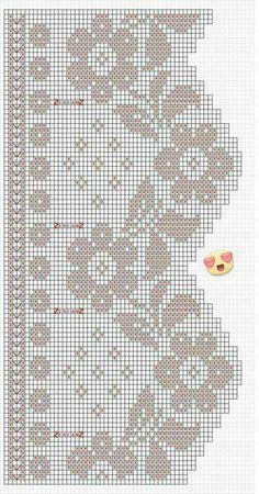 Häkeln / crochet / crocheté_Gardinen und Bordüren Curtain flowers Other types of Stair lifts By Flem Filet Crochet, Art Au Crochet, Diy Crafts Crochet, Crochet Motifs, Crochet Borders, Crochet Chart, Crochet Home, Love Crochet, Irish Crochet