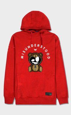 MISUNDERSTOOD TEDDY Red Hoodie -$58.00 USD