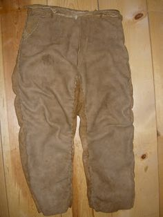Buckskin pants . Find out how to make them on this blog.