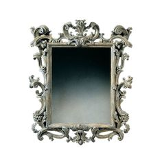 Rococo Mirror - Shown in Greige, also available in gilt and distressed black