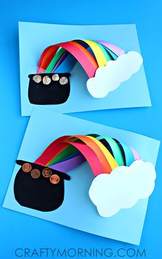 3D Over the Rainbow St. Patrick's Day Craft for Kids - Crafty Morning