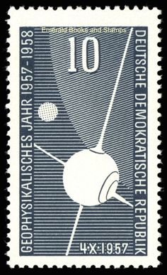 EBS East Germany DDR 1957 International Geophysical Year MNH Michel 603** in Stamps, Europe, Germany & Colonies | eBay