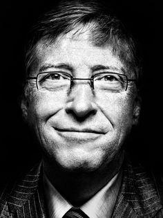 Bill Gates (1955) - American business magnate, philanthropist, investor, computer programmer, and inventor. Photo by Platon