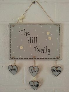Shabby Chic family quote plaques by MeggyMoosLittleGemms on Etsy, £8.50