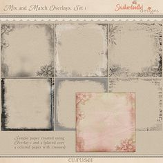 Mix and Match Edge Overlays Set 1 by SnickerdoodleDesigns Commercial Use for Digital Scrapbooking, #CUDigitals