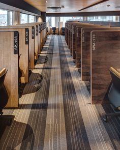 Public Library Design, Office Space Design, Office Interior Design, Office Interiors, Cool Office Desk, Tiny Office, Study Cafe, Dream Library, Office Humor