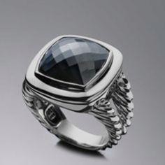 David Yurman Hematite Albion Ring 14mm