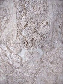 Vintage Irish Crochet Wedding Dress, Summer 1930
