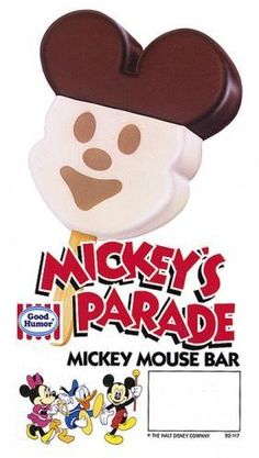 Mickey Mouse IceCream bar <3 favorite thing from the icecream truck :)!!