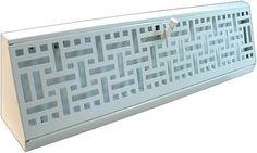Wicker Triangular Baseboard Register / Decorative white baseboard register / Triangle baseboard vent