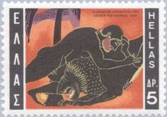 GREECE - CIRCA stamp printed by Greece, shows Hercules and Nemean lion, circa 1970 Nemean Lion, Rare Stamps, Stamp Printing, Greek Mythology, Stamp Collecting, Postage Stamps, Celestial, Kitty, History