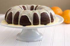 Orange-Glazed Chocolate Bundt Cake is oh-so-moist with a mouthwatering glaze... and incredibly easy to make!
