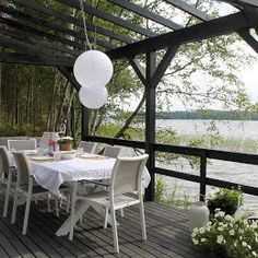 Ihan valmis kesäkeittiö - Casa Mimi Outdoor Furniture Sets, Outdoor Decor, Pergola Patio, Cottage, Cabin, House, Home Decor, Patio Ideas, Decoration Home