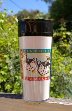 "Starbucks Coffee Company ThermoServ Tumbler Commuter Cup ""Waking Up Las Vegas""    eBay"