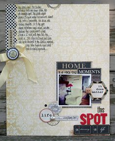 journaling takes center stage layout by @Courtney Walsh contributor to Scrap Chic