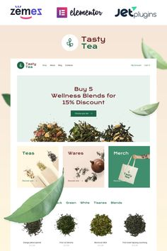 Tasty Tea: build your own tea ecommerce websiteAre you tea lover and owner of online tea shop? Pay attention to our tea ecommerce website template. It suits to Ecommerce Web Design, Web Ui Design, Tea Website, Tasty Website, Website Design Layout, Web Layout, Layout Design, Seo Basics, Tea Design
