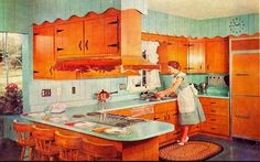 It's so weird, we've probably all seen this kitchen faded and old and dirty...but you can really see the beauty that was intended when you look at this old advertisement.