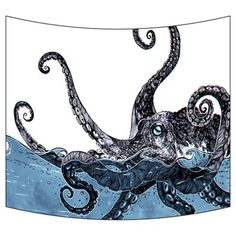 """GCKG Creative Octopus Wall Art Tapestries Home Decor Wall Hanging Tapestry Size 40""""x60"""""""