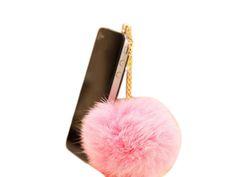 Rabbit Fur Ball 3.5mm Earphone Jack Dust Plug Ear Cap for iPhone 5 Touch