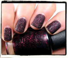 Mariah Carey's Liquid Sand Nail Polish in Stay the Night...I have this this & luv it!!