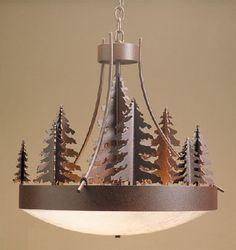Pine Tree Woodland Chandelier