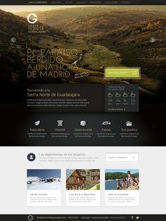 Beuty & intuitive. Web design for promote rural turism by Pablo Chavida, via Behance