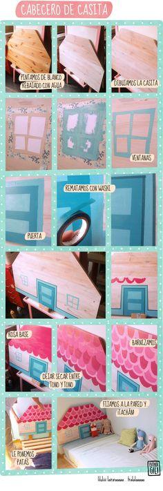 cabecero de cama http://www.39semanas.com/2013/09/cama-de-nina-mayor.html