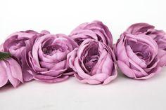 Set of 7 Ranunculus in Antique Purple - Silk Artificial Flowers - Read Description - ITEM 041 by SimplySerraFloral on Etsy https://www.etsy.com/listing/509414092/set-of-7-ranunculus-in-antique-purple
