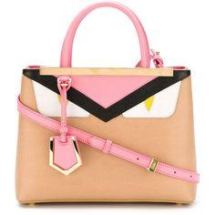 Fendi '2Jours' tote (178.395 RUB) ❤ liked on Polyvore featuring bags, handbags, tote bags, leather tote handbags, fendi tote, leather tote, red tote and red purse
