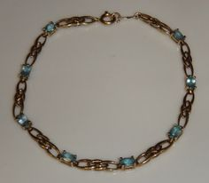 Vintage Aquamarine Ladies Art Deco Celtic by GloryBeVintageWares, $327.60