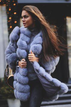 blue dyed fox fur coat                                                                                                                                                      More