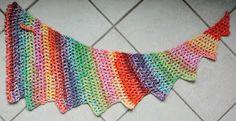 gehaakte wingspan sjaal, crochet wingspan, Renske Creatief