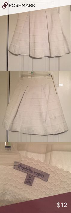 White Charlotte Russe Skirt Above the Knee Charlotte Russe White Skirt Bundle and Save!!! Charlotte Russe Skirts