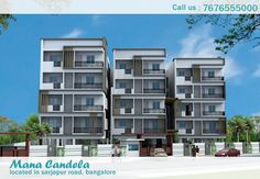 Mana Candela Luxurious Flats for Sale in Sarjapur Road Bangalore is developing in the middle of nature and enjoying urban livelihood with a perfect privacy. Mana Candela Project Contains 2BHK and 3BHK High Class Residential Apartments. Spread across acres, flats are ranging from 950 Sq.ft. to 1409 Sq.ft. Mana Candela ongoing Project is one of the largest and probably the most luxurious residential developments in the neighborhoods of Sarjapur Road, Bangalore.