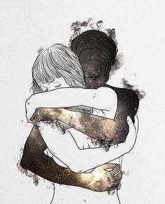 Artwork by MS Drawings Art Sketches, Art Drawings, Couple Art, Love Art, Art About Love, Art Inspo, Fantasy Art, Illustration Art, Artsy