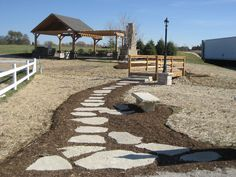 This path uses Buechel Stone's Fond du Lac Flagstone. Ref: Fond du Lac Flagstone. Visit www.buechelstone.com/shoppingcart/products/Fond-du-Lac-Fl... for more information.