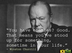 Winston Churchill - I love his quotes