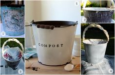 DIY Faux Enamel Ware Compost Bin - homework ~ carolynshomework (1)