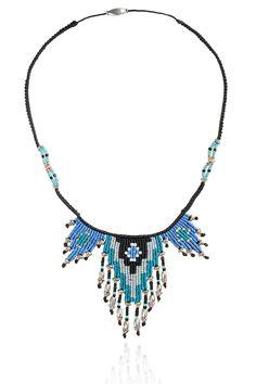 Zoe Kompitsi | Teal Geometric Short Necklace