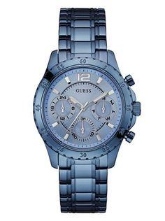Sky Blue Flirtatious Good Looks Watch | GUESS.com